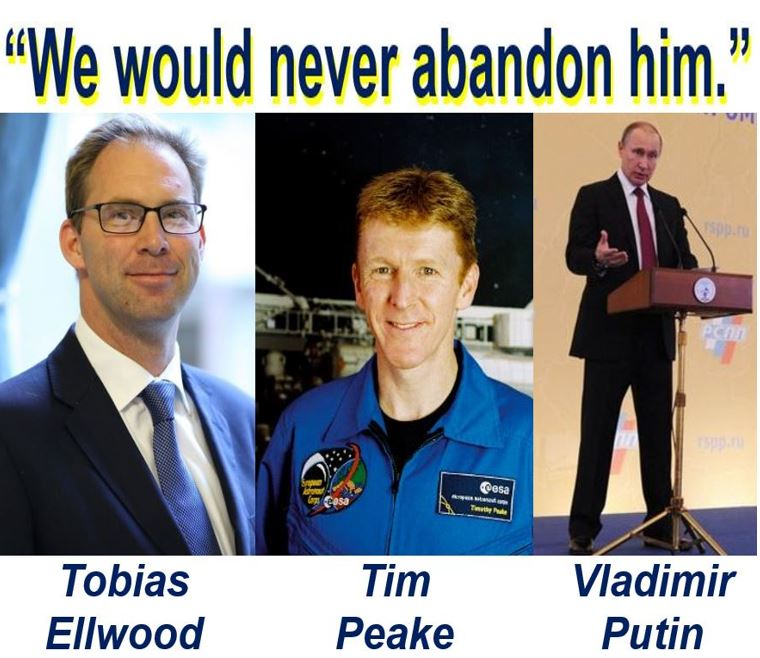 Tim Peake worried about being stranded