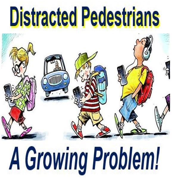 Distracted pedestrian a growing problem