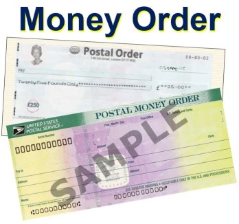 postal money order sample