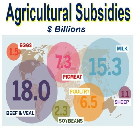 Agricultural subsidy types