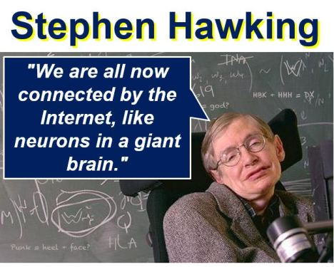 Stephen Hawking describing the Net