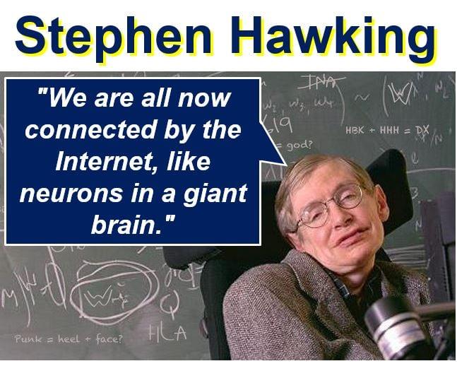 Stephen Hawking describing the Net