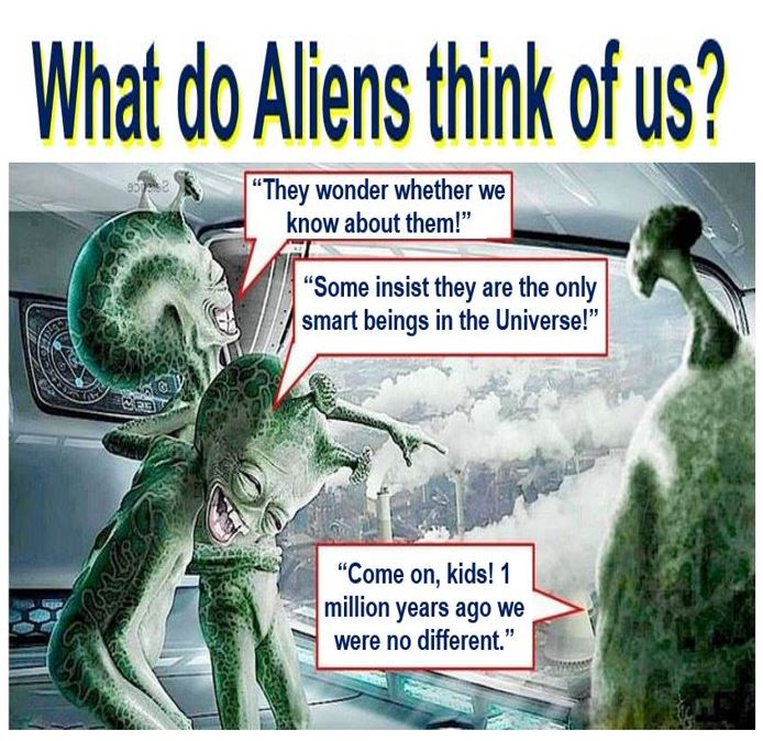 Aliens monitoring us