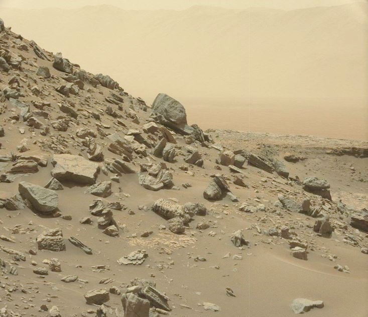 Curiosity image of rock formations