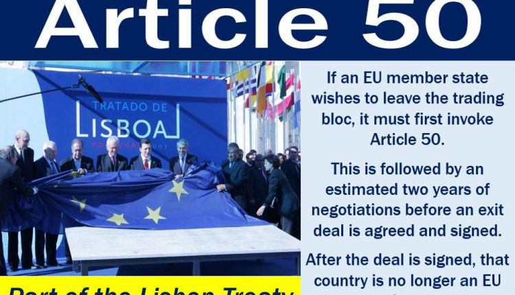 Article 50 - image and explanation