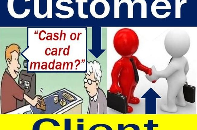 Customer vs client - image showing the difference