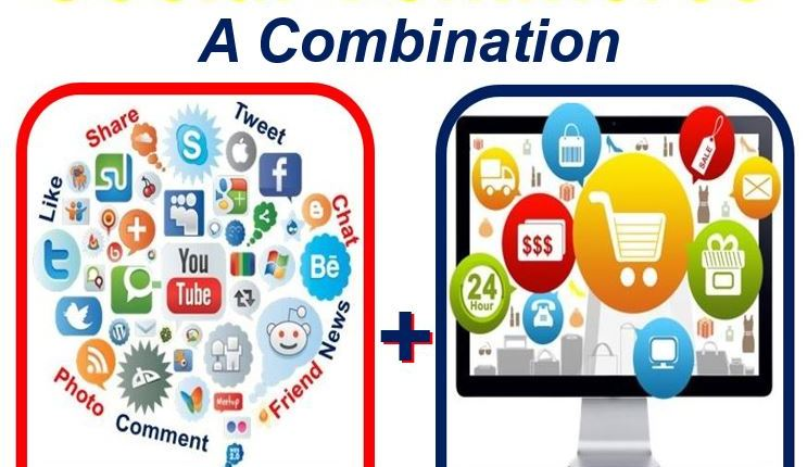 Social commerce is a combination of social networking and e-commerce