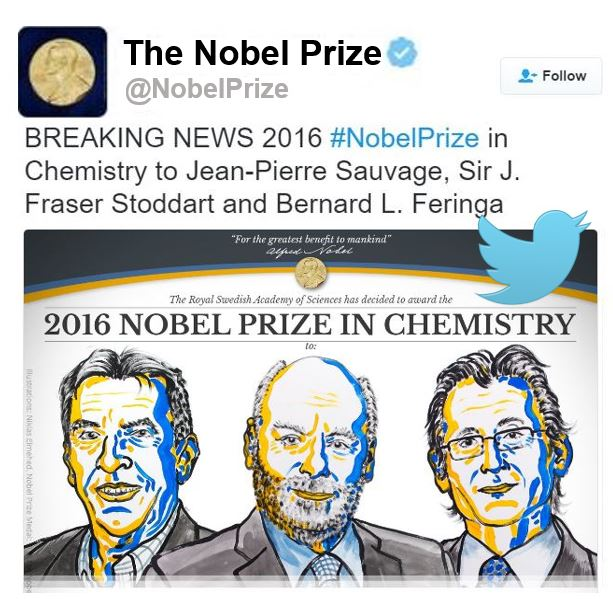The Nobel Prize in Chemistry 2016 three winners