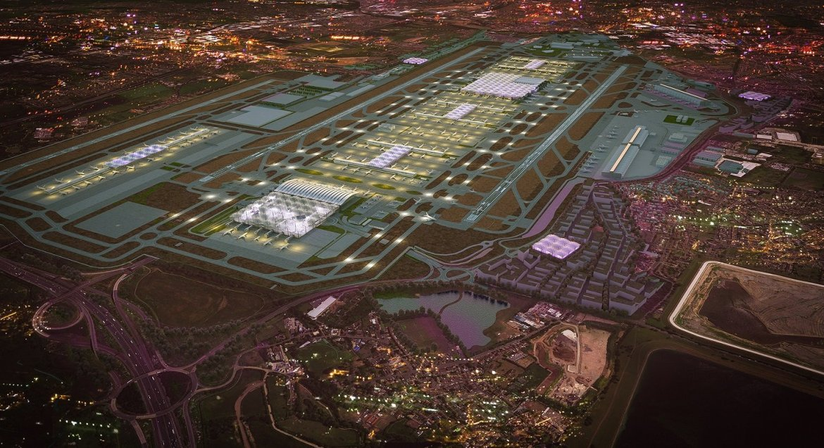 Concept design of an expanded Heathrow.