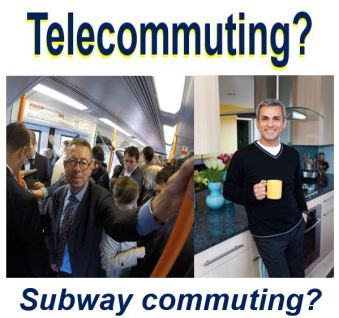 Telecommuting or subway commuting