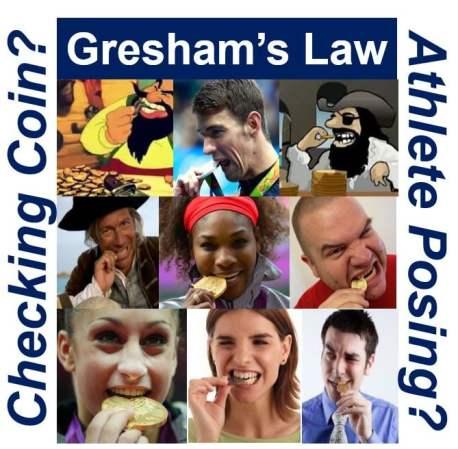Greshams Law biting coin
