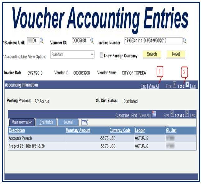 Voucher - accounts payable