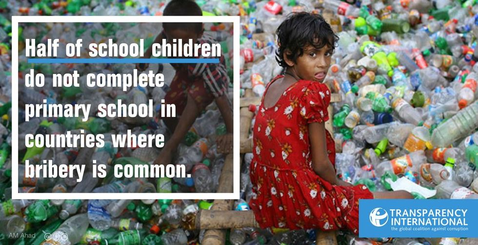 Corruption and education of children