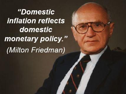 Milton Friedman - monetarism - inflation