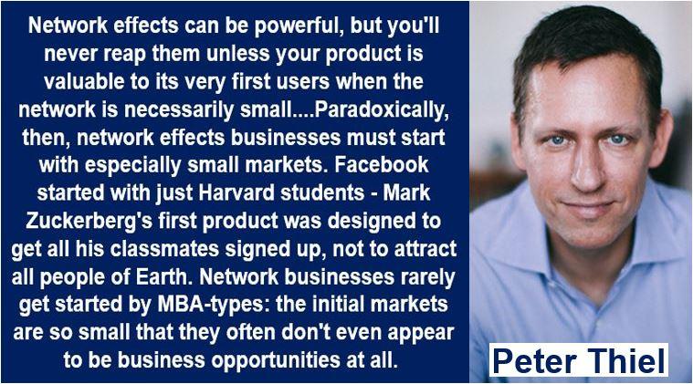 Network Effect Quote - Peter Thiel
