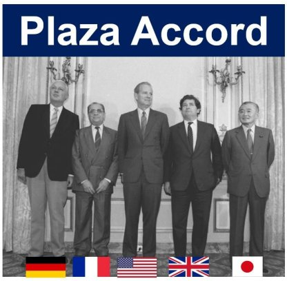 Plaza Accord Finance Ministers