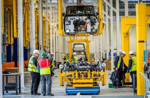 electric black cabs plant at Ansty