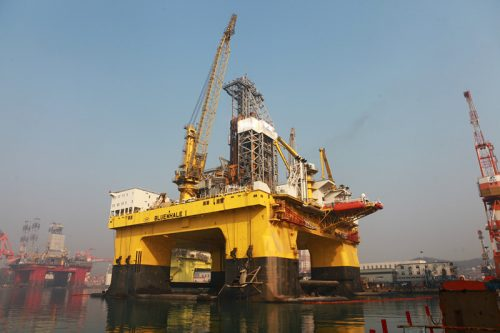 oil exploration platform Bluewhale 1