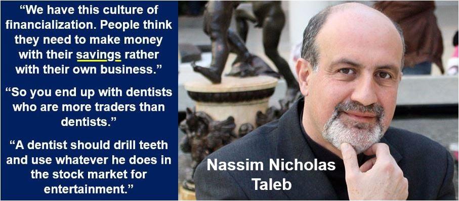 Nassim Nicholas Taleb - savings quote