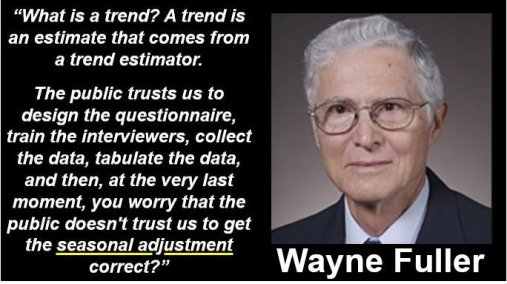 Wayne Fuller - Seasonal Adjustment Quote