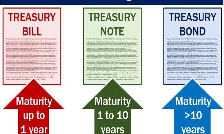 Treasury bills notes and bonds