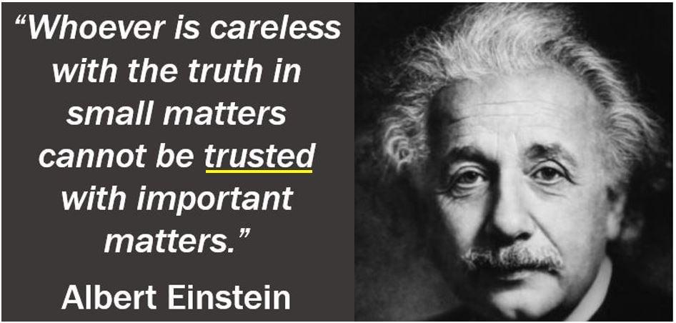 Trust Quote - Albert Einstein