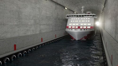 ship tunnel computer image passenger credit Kystverket