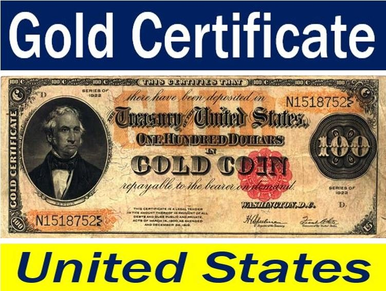 Gold certificate United States