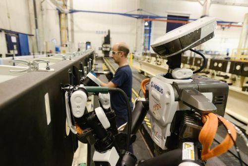 aerospace robotics - Airbus plant in Spain photo from Airbus