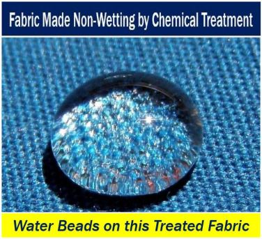 Fabric becomes non-wetting