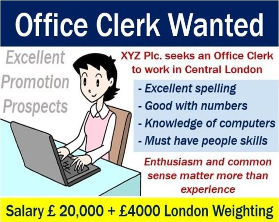 Office Clerk Ad - London Weighting