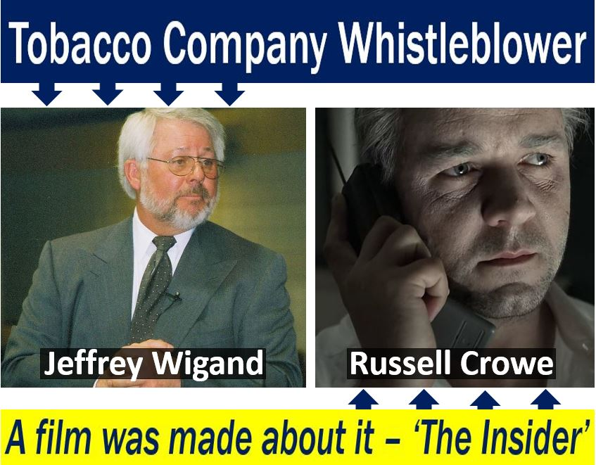 Tobacco company whistleblower and film made about him