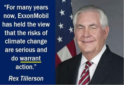 Warrant quote - Rex Tillerson
