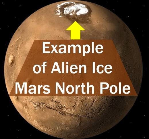 Alien Ice example - Mars North Pole