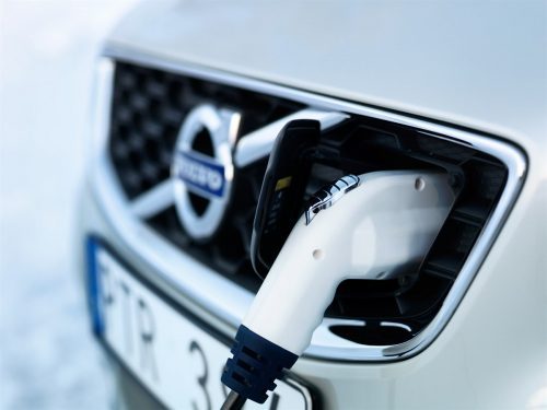 Charging the Volvo C30 electric car