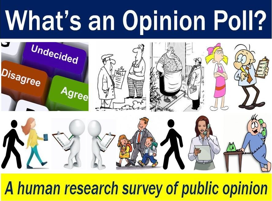 Opinion poll - image with explanation and examples