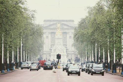 vehicles on London street