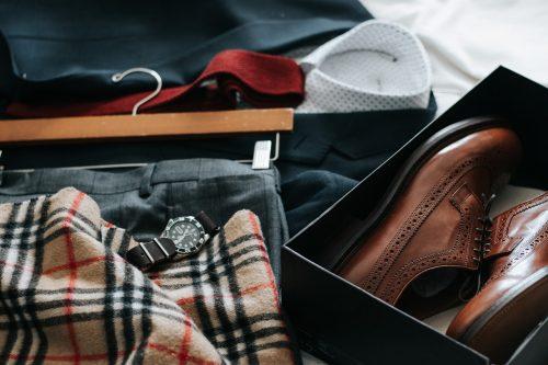 male apparel - British men shopping