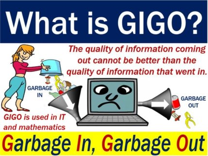GIGO garbage in garbage out - definition and illustration
