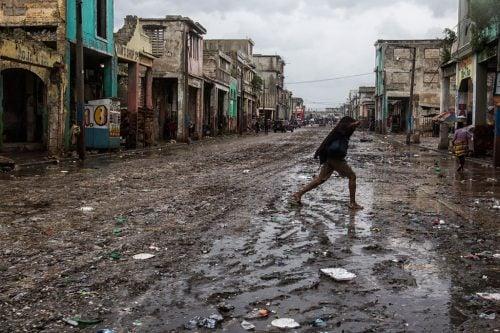 small island countries - Haiti after hurricane Matthew