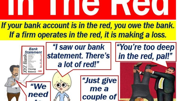 In The Red - definition and examples