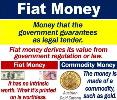 Cryptocurrency and fiat money