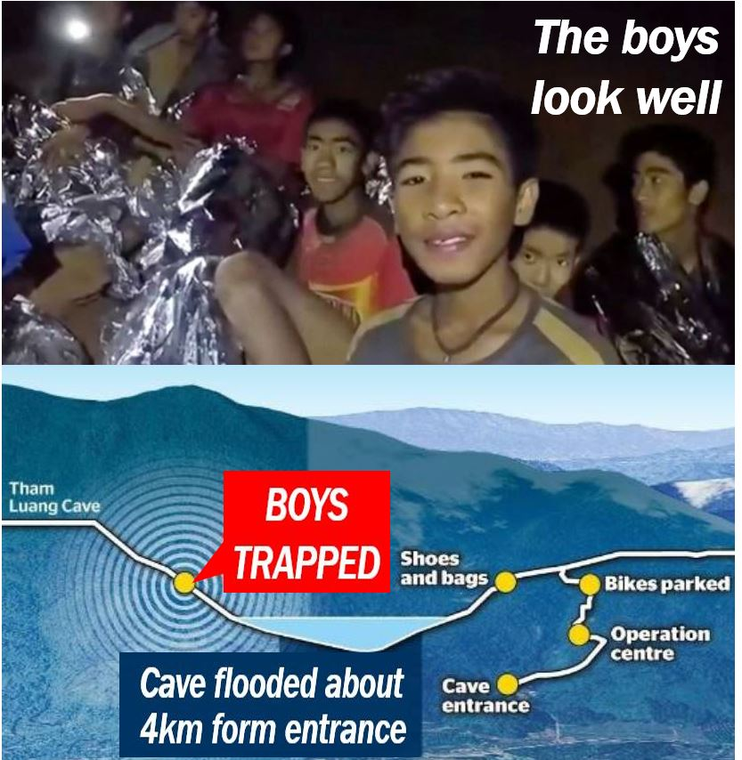 Elon Must trying to help boys trapped in cave