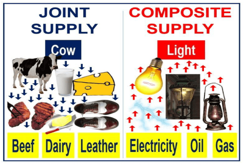 Difference between joint supply and composite supply.
