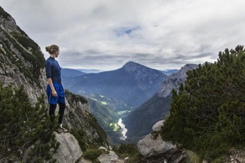 programmable biomaterial - trekking athlete on mountain