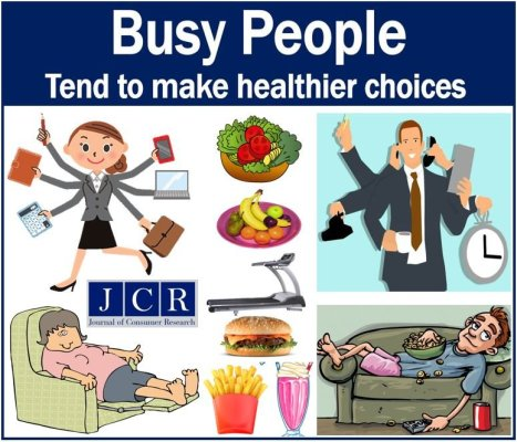 Busy people make healthier choices