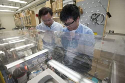 Professor Song Jin and Wenjie Li