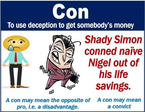Con definition and examples
