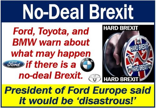 No-Brexit deal - Ford Toyota and BMW warning