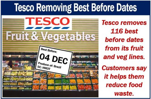 Tesco is removing best before dates from fruit and veg